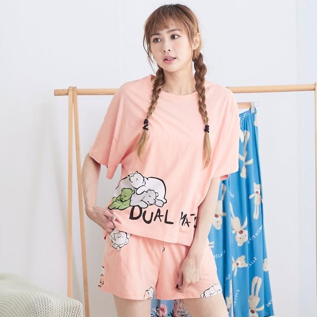 【Wonderland】睡衣 睏睏小熊100%棉居家睡衣褲組