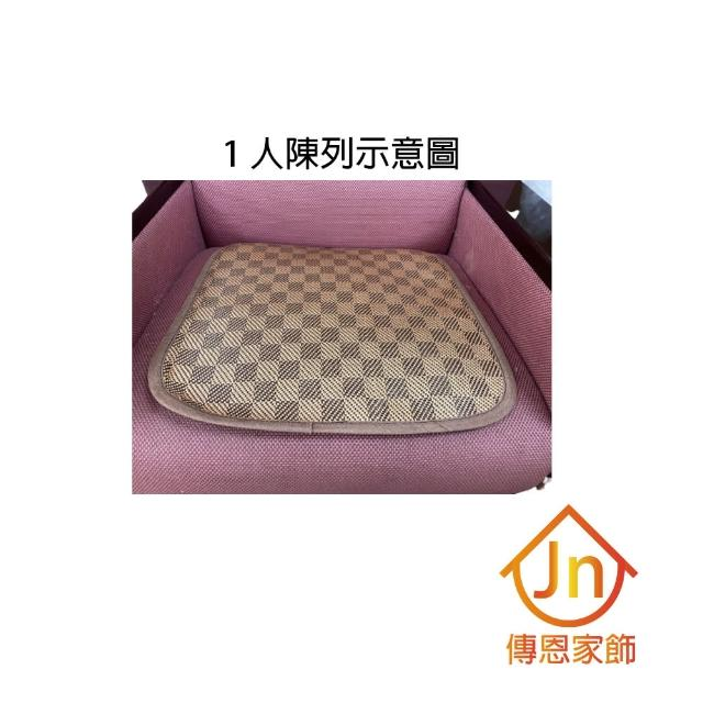 【J&N】涼感止滑編織坐墊1人 - 50*50*1.5(咖啡-2入組)