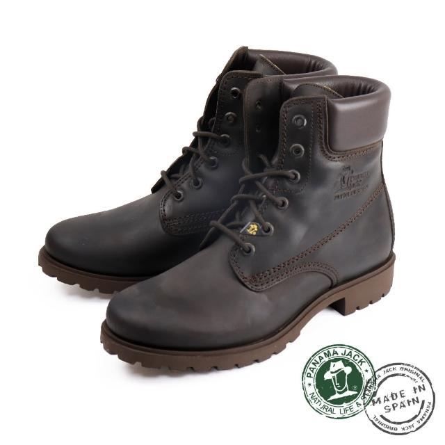 【Panama Jack】經典百搭刷色厚底中筒靴 深棕色(P0403W-MAR)