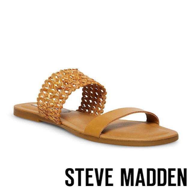 【STEVE MADDEN】LIZANNE 簍空雙帶涼拖鞋(棕色)