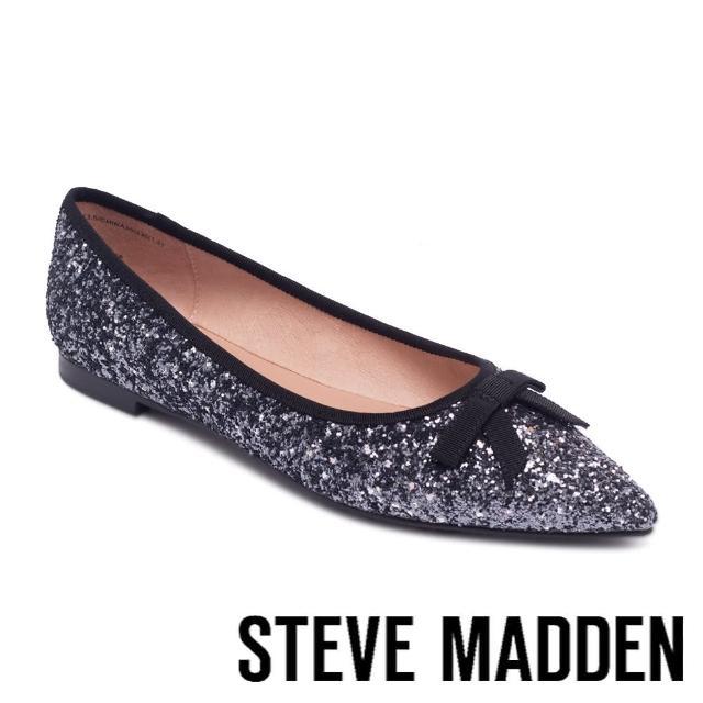 【STEVE MADDEN】CEUTICAL 閃耀蝴蝶結尖頭平底鞋(星空藍)