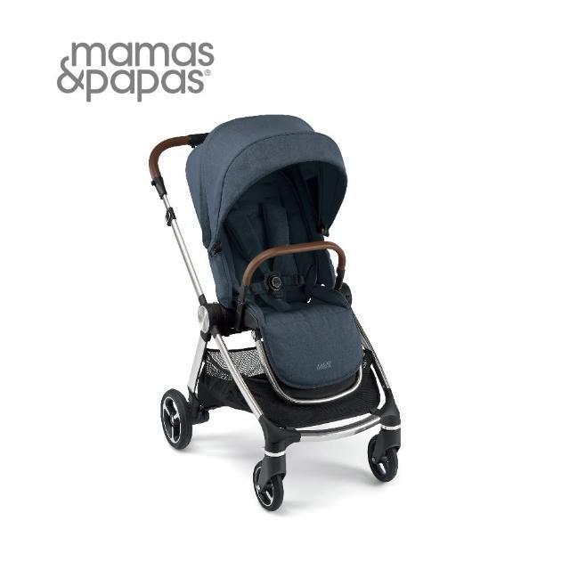 【Mamas & Papas】Strada 雙向 高景觀 避震輪 可平躺 新生兒 嬰兒手推車 0m+(海軍藍)