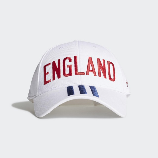 【adidas 愛迪達】CF BB CAP ENG 男款 女款 英格蘭 帽子 白(FJ0997)