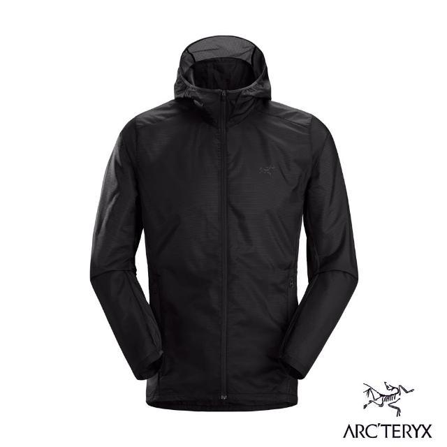 【Arcteryx 始祖鳥】男 Incendo SL 風衣 連帽外套(黑)