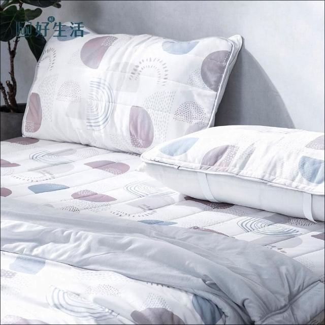 【hoi!】夏日微風涼感抗菌保潔墊-枕用二入