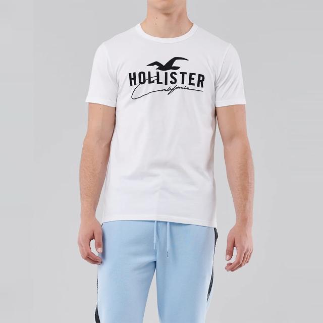 【HOLLISTER Co】Hollister 經典刺繡大海鷗圖案短袖T恤-白色