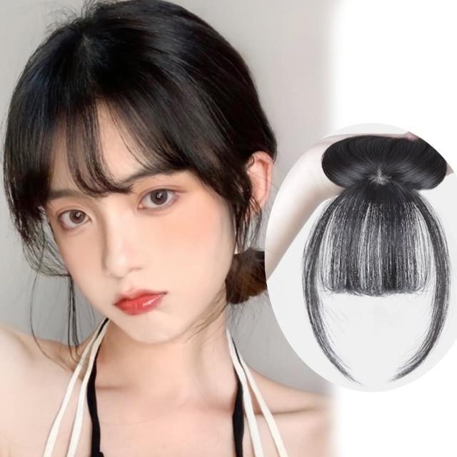 【狐狸姬】升級3D補頭頂少量米蘭空氣瀏海減齡造型假髮(多色)