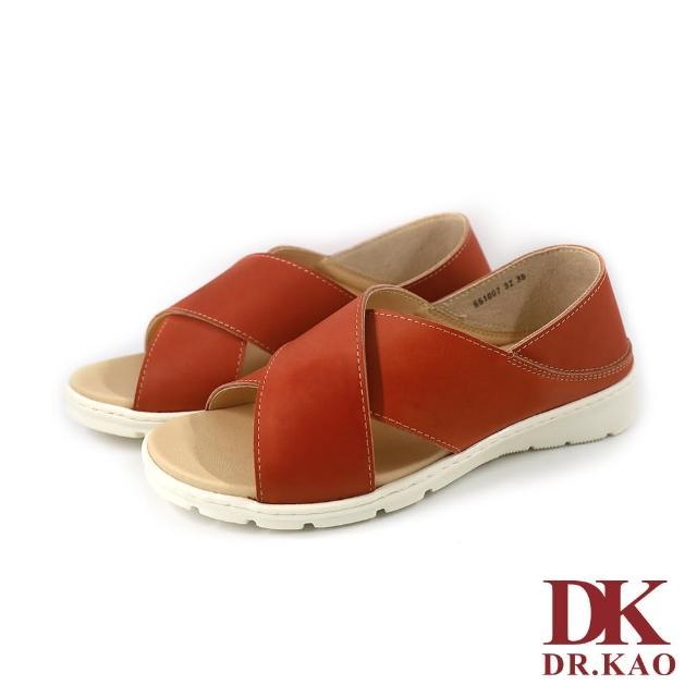 【DK 高博士】簡約交叉涼鞋 65-1007-32 橘色