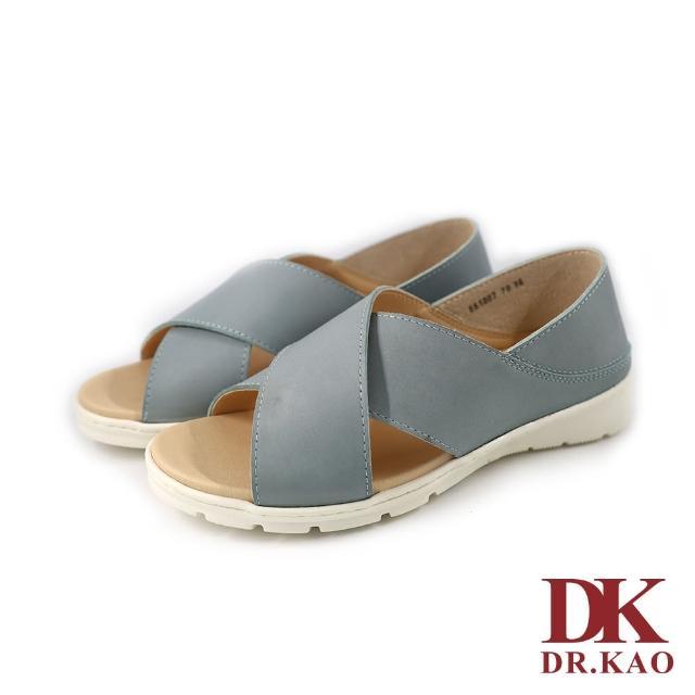 【DK 高博士】簡約交叉涼鞋 65-1007-70 藍色