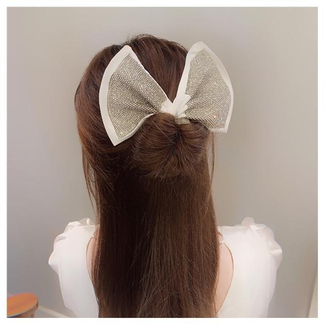 【HaNA 梨花】韓國新品盤髮絕美背影.升級款鑽石布扭扭盤髮捲盤髮神器
