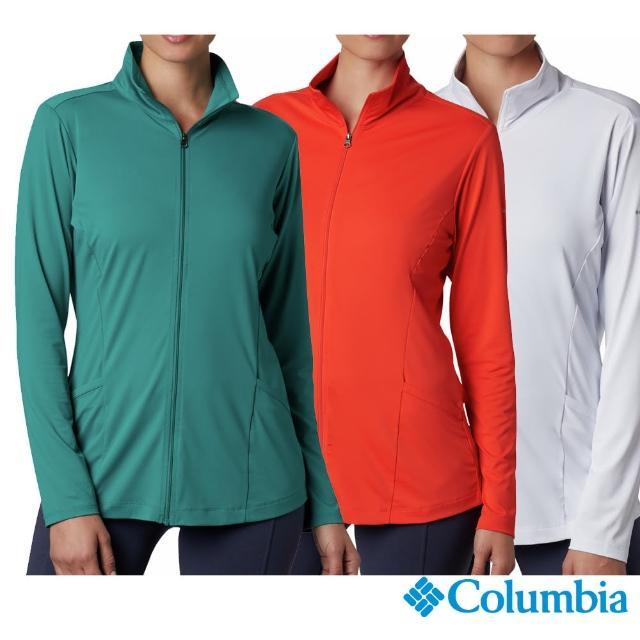【Columbia 哥倫比亞】女款- 涼感快排防曬50立領外套-3色(UAR14150 / 抗UV.涼感.防曬)