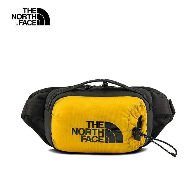【The North Face】The North Face北面男女款黃黑色便捷休閒腰包|52RWYQR