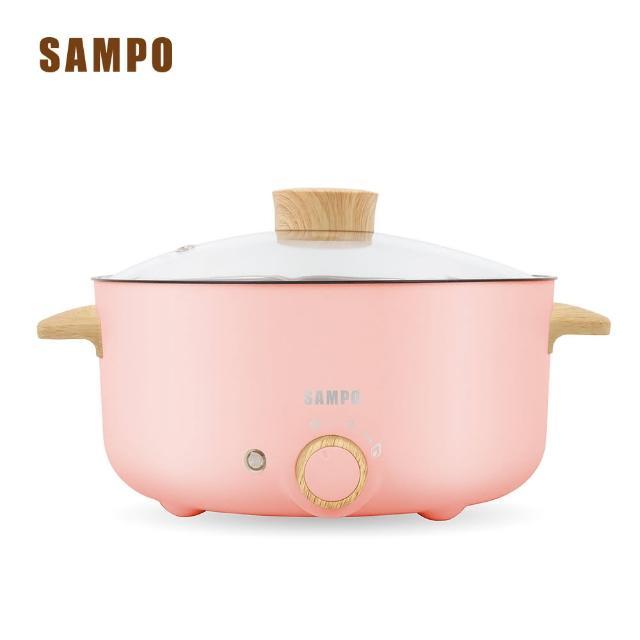 【SAMPO 聲寶】三公升日式多功能料理電火鍋-粉紅色(TQ-B19301CL)