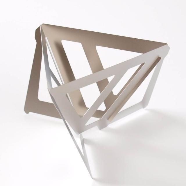 【MUNIEQ】Tetra Drip 02T 攜帶型濾泡咖啡架 Titanium(鈦金屬攜帶型三角濾杯-大)