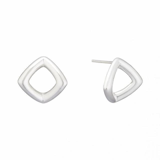 【Luciano Milano】極簡主義-菱 純銀耳環(純銀)