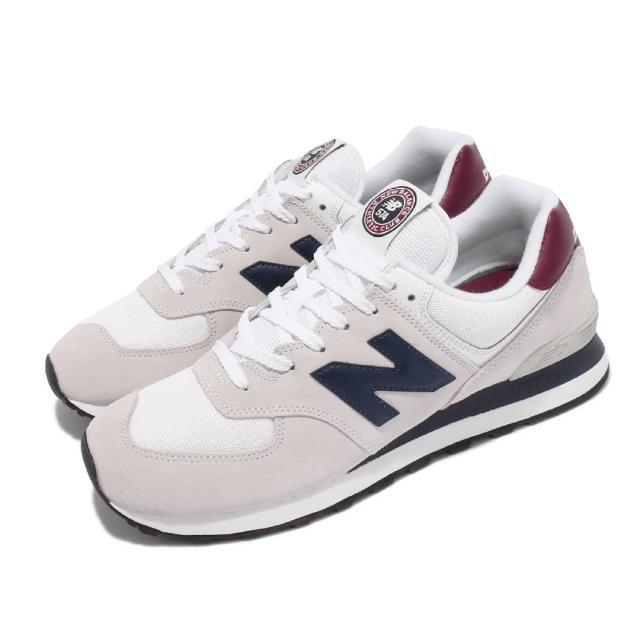 【NEW BALANCE】休閒鞋 574 復古 經典 男鞋 紐巴倫 麂皮 網布 N字鞋 穿搭推薦 灰 藍(ML574HX2-D)