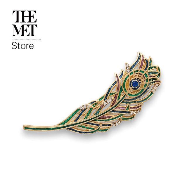 Fubon Art 富邦藝術【Fubon Art 富邦藝術】最美的年代 孔雀羽毛胸針(The Met Store/別針/領針/珠寶)