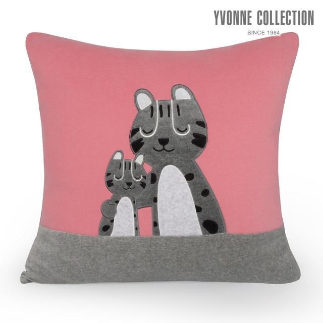 【Yvonne Collection】親子石虎方形抱枕(活力粉)