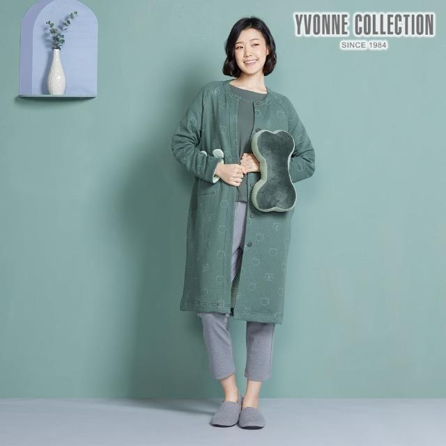 【Yvonne Collection】拼接車用骨頭頸枕(夜幕綠)