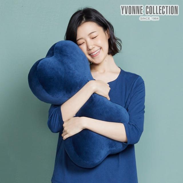 【Yvonne Collection】素面中骨頭抱枕(丈青藍)