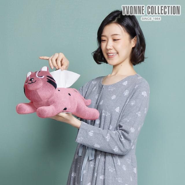 【Yvonne Collection】石虎造型衛生紙套(活力粉)