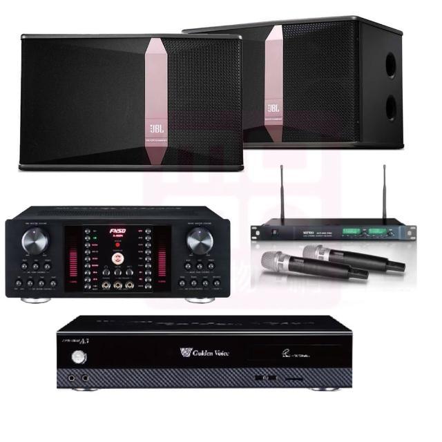 【金嗓】點歌機4TB+擴大機+無線麥克風+喇叭(CPX-900 A3+A-450+ACT-869PRO+JBL Ki512)
