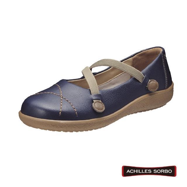 【A.S.O 阿瘦集團】ACHILLES SORBO 樂活休閒交叉鬆緊彈力避震健康鞋-SRL4390(藍)