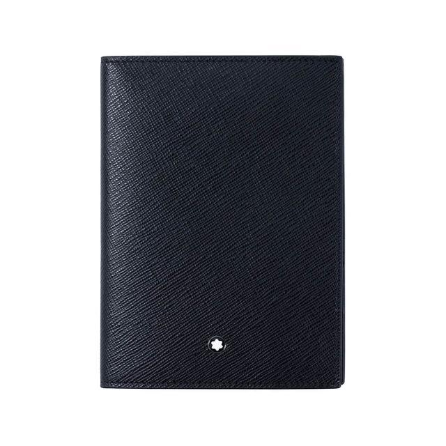 【MONTBLANC 萬寶龍】大班系列粒面軟皮護照夾