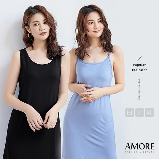 【Amore】夏日莫代爾圓領背心連身裙(夏日穿搭必備)