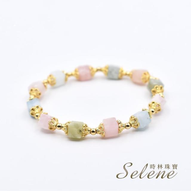 【Selene】粉嫩清透摩根石手鍊(愛的療癒石)