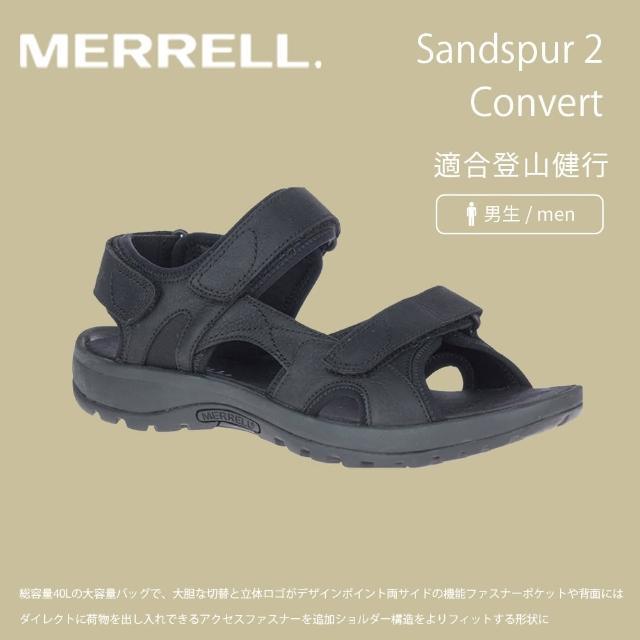 【MERRELL】男 Sandspur 2 Convert 涼鞋 黑 ML002715(登山鞋/運動鞋/防水鞋/運動涼鞋)