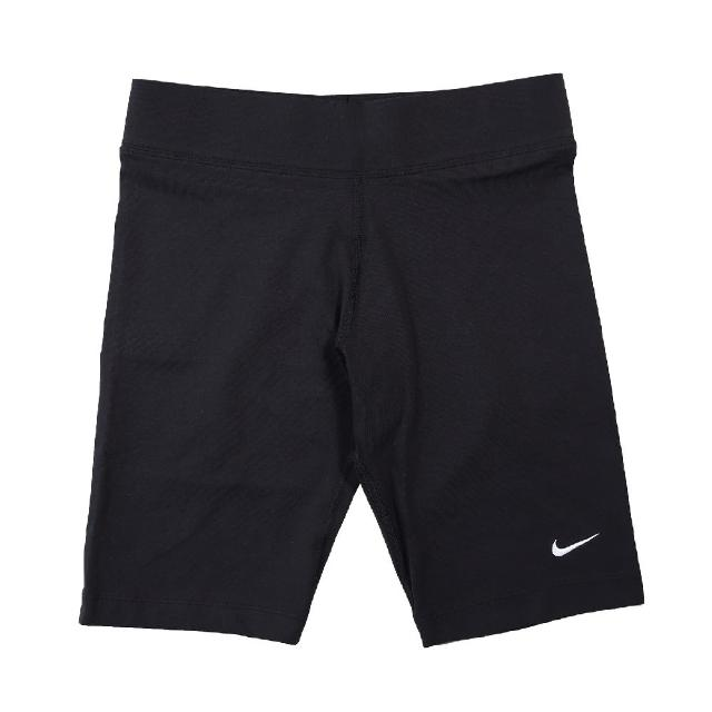 【NIKE 耐吉】短褲 Essential Bike Shorts 女 NSW 運動休閒 單車褲 歐美辣妹 黑 白(CZ8527-010)