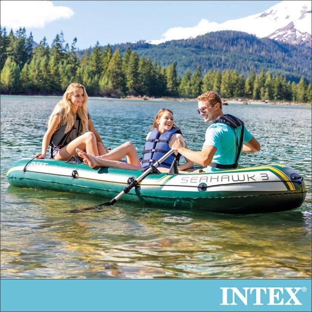 【INTEX】SEAHAWK 3人座休閒橡皮艇(68380)