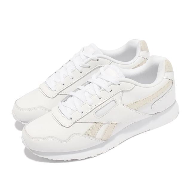 【REEBOK】休閒鞋 Royal Glide LX 運動 女鞋 經典款 皮革鞋面 金屬logo 穿搭 白 金(DV6836)