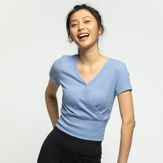 【6IXTY8IGHT】交叉V領上衣T恤 TP09080(T恤)