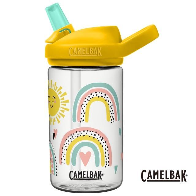 【CAMELBAK】400ml eddy+兒童吸管運動水瓶RENEW 陽光彩虹(CB2689104141/新花色/EDDY+/新材質)
