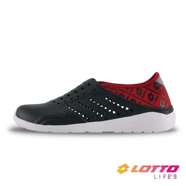 【LOTTO】男 經典洞洞鞋(黑紅-LT1AMS3650)