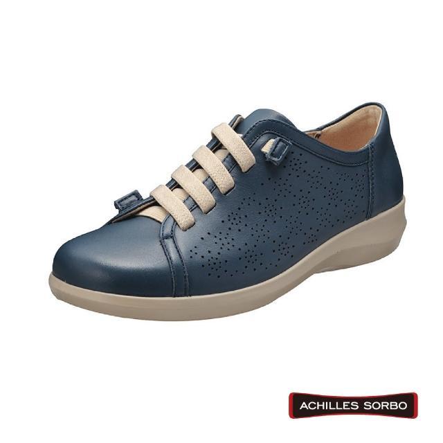 【A.S.O 阿瘦集團】ACHILLES SORBO 樂活休閒鬆緊懶人造型彈力避震健康鞋-SRL3840(深藍)