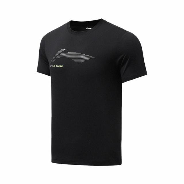 【LI-NING 李寧】健身系列男子短袖T恤 黑色(ATSR295-1)