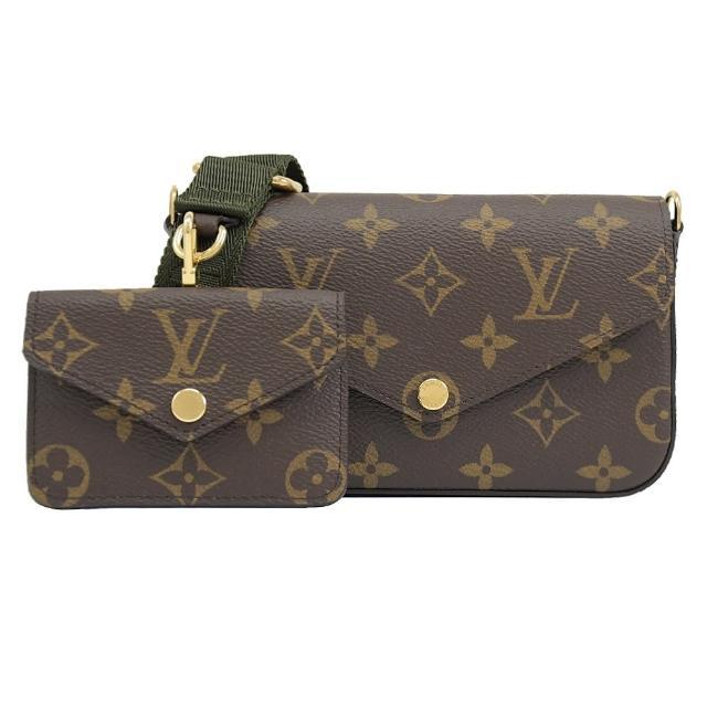 【Louis Vuitton 路易威登】LV M80091 FELICIE STRAP & GO 經典花紋二合一多功能包(現貨)