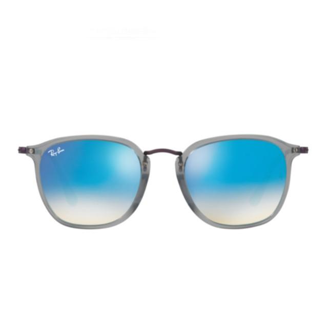 【RayBan 雷朋】平面款漸變閃光款藍色鏡片(2448NF-121040)