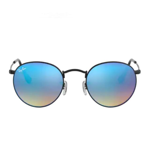【RayBan 雷朋】傳奇復古款漸變閃光款藍色鏡片(3447-0024O)