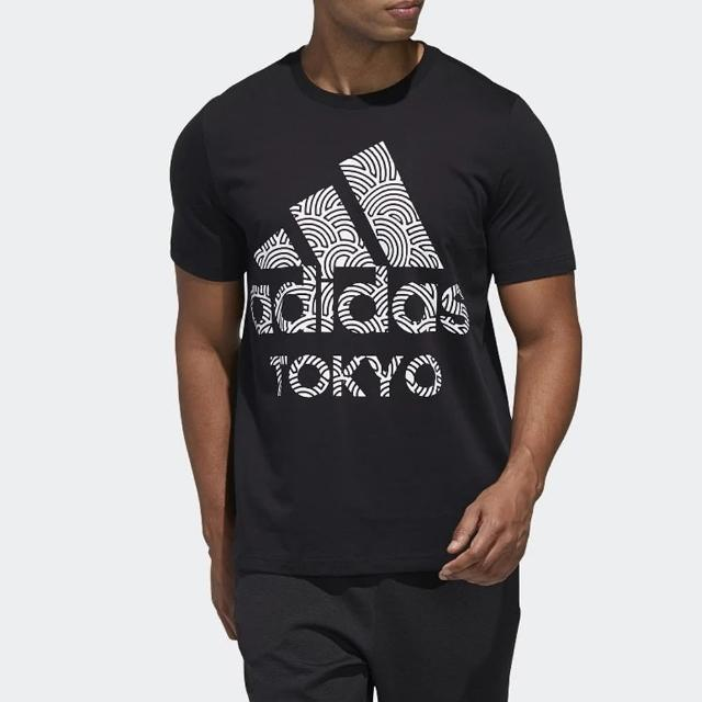 【adidas 愛迪達】上衣 男款 短袖上衣 運動 慢跑 訓練 HIROKO TAKAHASHI GD5006 黑