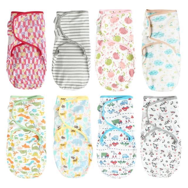 【Baby 童衣】嬰兒包巾 懶人包巾 新生兒用品滿版印花純棉寶寶包巾 60164(共14色)