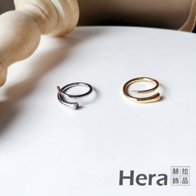 【HERA 赫拉】韓版個性金屬感指環食指戒-2色 H11007163(個性線條 簡約)