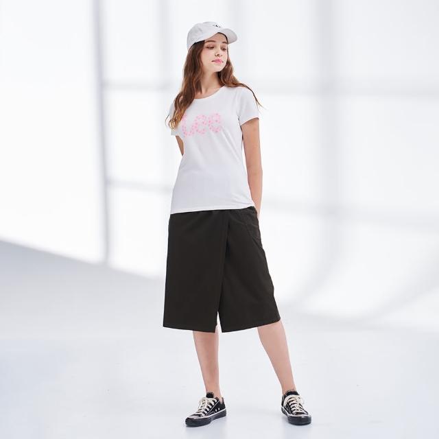 【Lee】薄款鬆緊 側口袋 女牛仔寬褲裙-墨玉綠