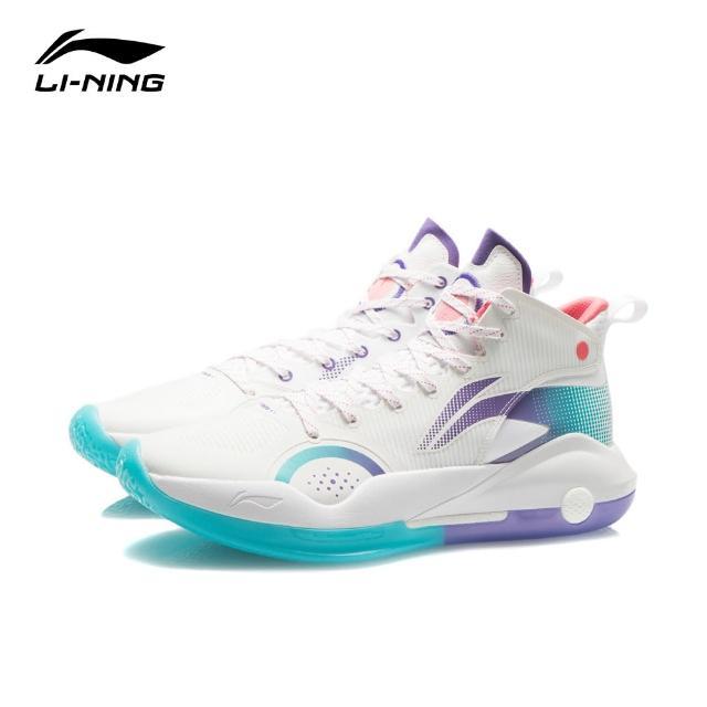 【LI-NING 李寧】馭帥 XV 籃球專業比賽鞋 標準白(ABAR043-1)