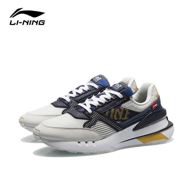 【LI-NING 李寧】001 新生男子彈性經典休閒鞋 南極灰/深碗藍(AGCR183-2)