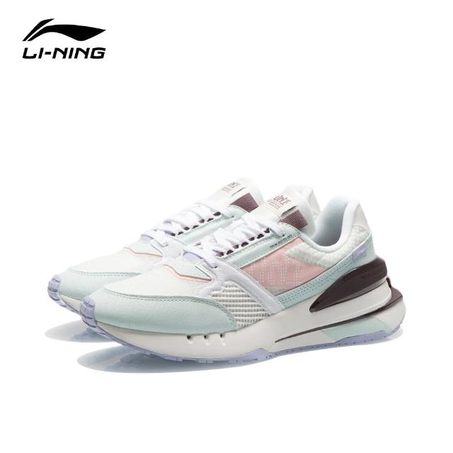【LI-NING 李寧】001 新生女子彈性經典休閒鞋 雲霧白/薄碗藍/標準白(AGCR184-2)