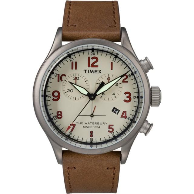 【TIMEX】刻劃時代計時皮帶腕錶(TW2R38300)